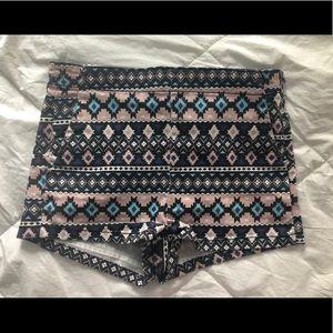Aztec high waisted shorts